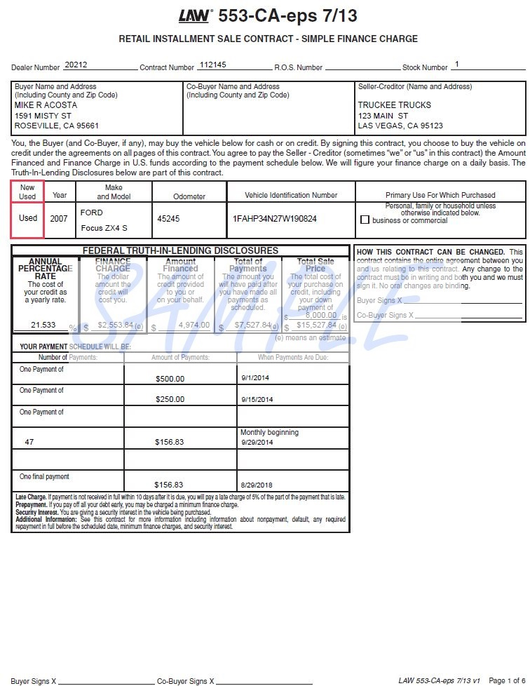Printerforms biz sle e forms 28 images printerforms for Retail installment contract motor vehicle